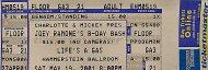 Joey Ramone's B-Day Bash Vintage Ticket