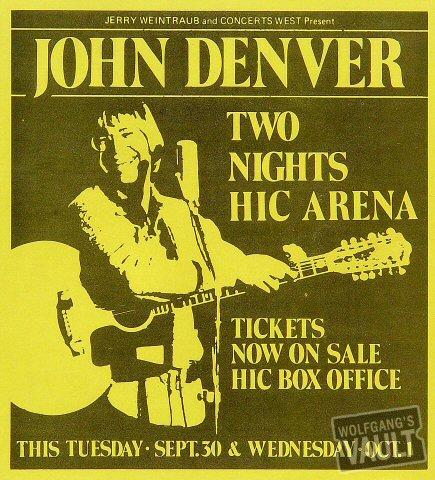 John Denver Handbill