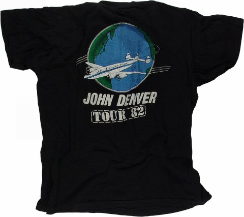 John Denver Men's Vintage T-Shirt reverse side