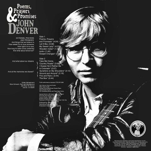 """John Denver Vinyl 12"""" (New) reverse side"""
