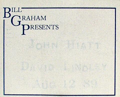 John Hiatt Backstage Pass