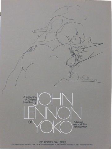 John Lennon and Yoko Ono Poster