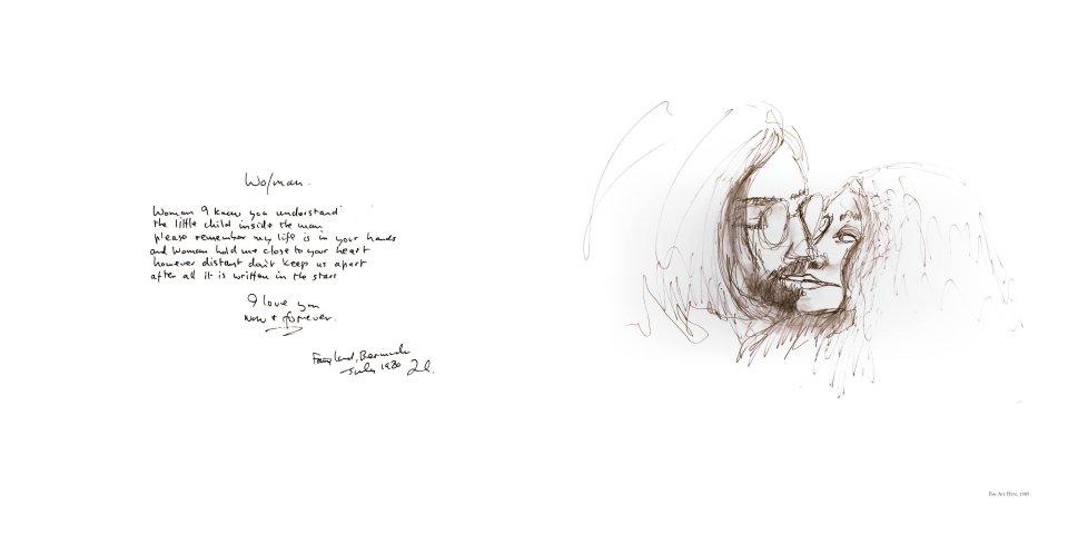 John Lennon - The Collected Artwork reverse side
