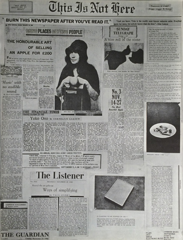 John Lennon Program reverse side