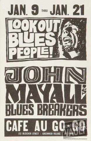 John Mayall & the Bluesbreakers Handbill