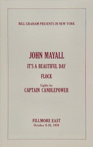John Mayall Program reverse side