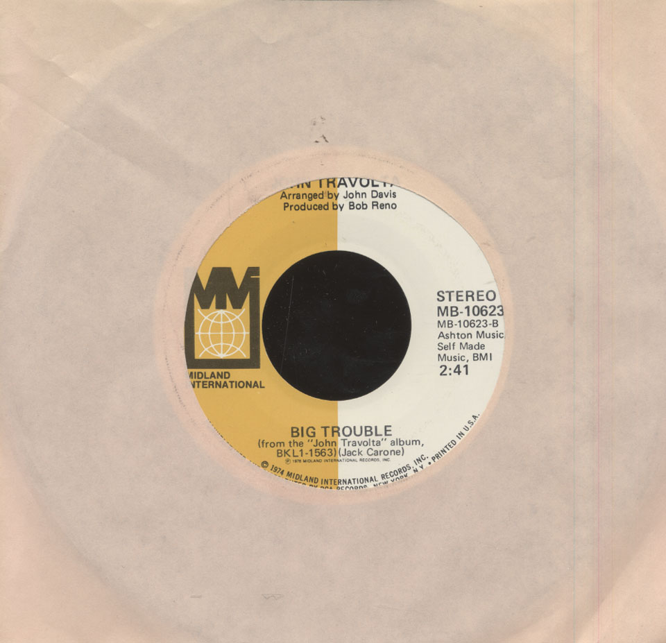 "John Travolta Vinyl 7"" (Used)"