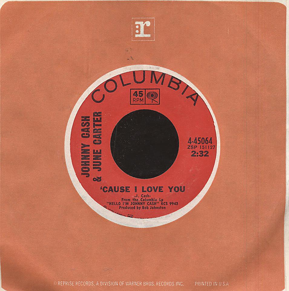 "Johnny Cash & June Carter Vinyl 7"" (Used)"