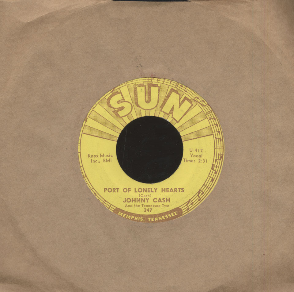 """Johnny Cash And The Tennessee Two Vinyl 7"""" (Used)"""