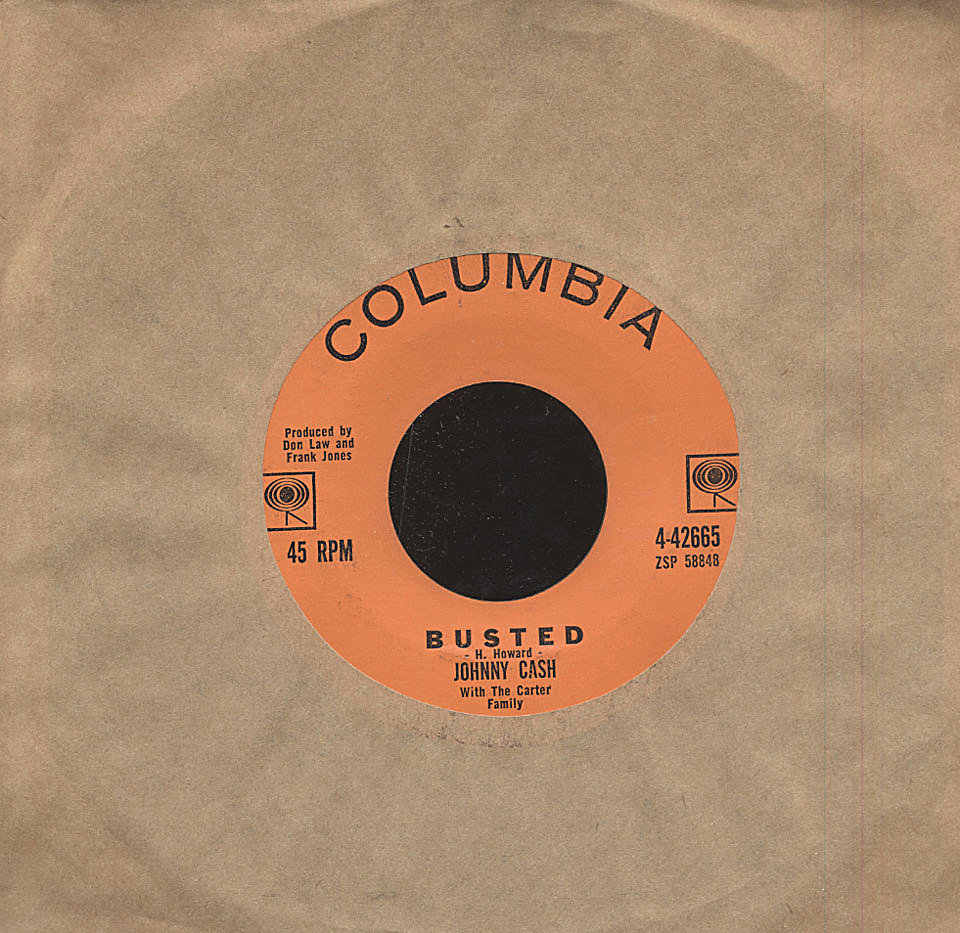 """Johnny Cash With The Carter Family Vinyl 7"""" (Used)"""