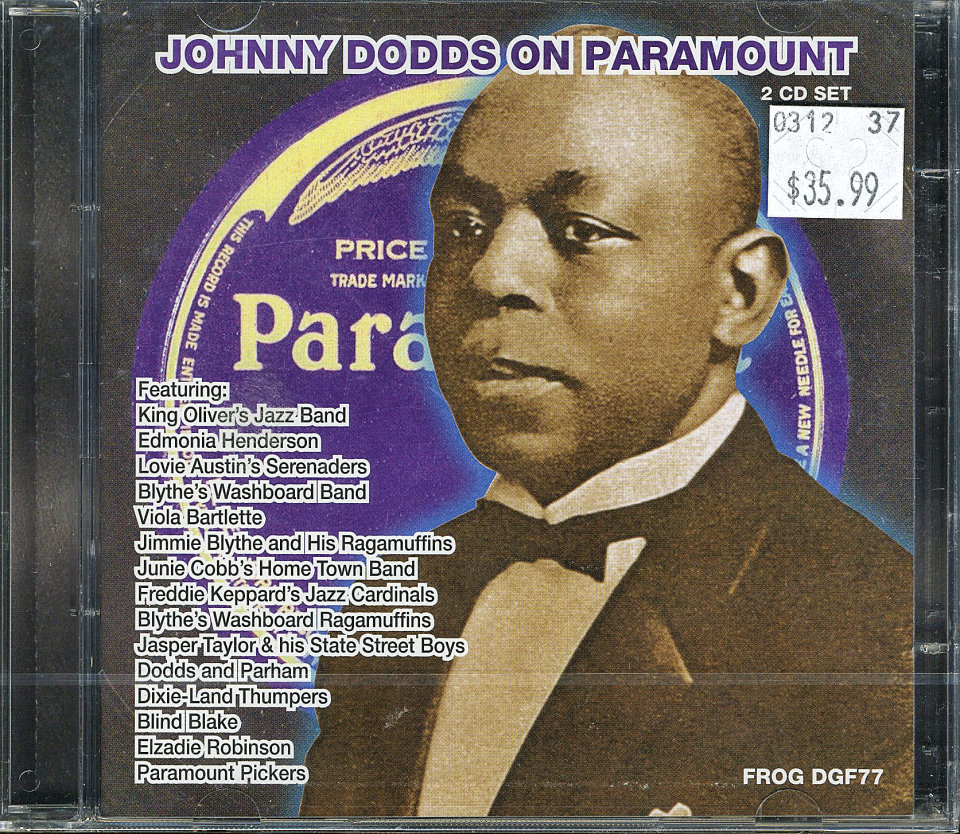 Johnny Dodds on Paramount CD