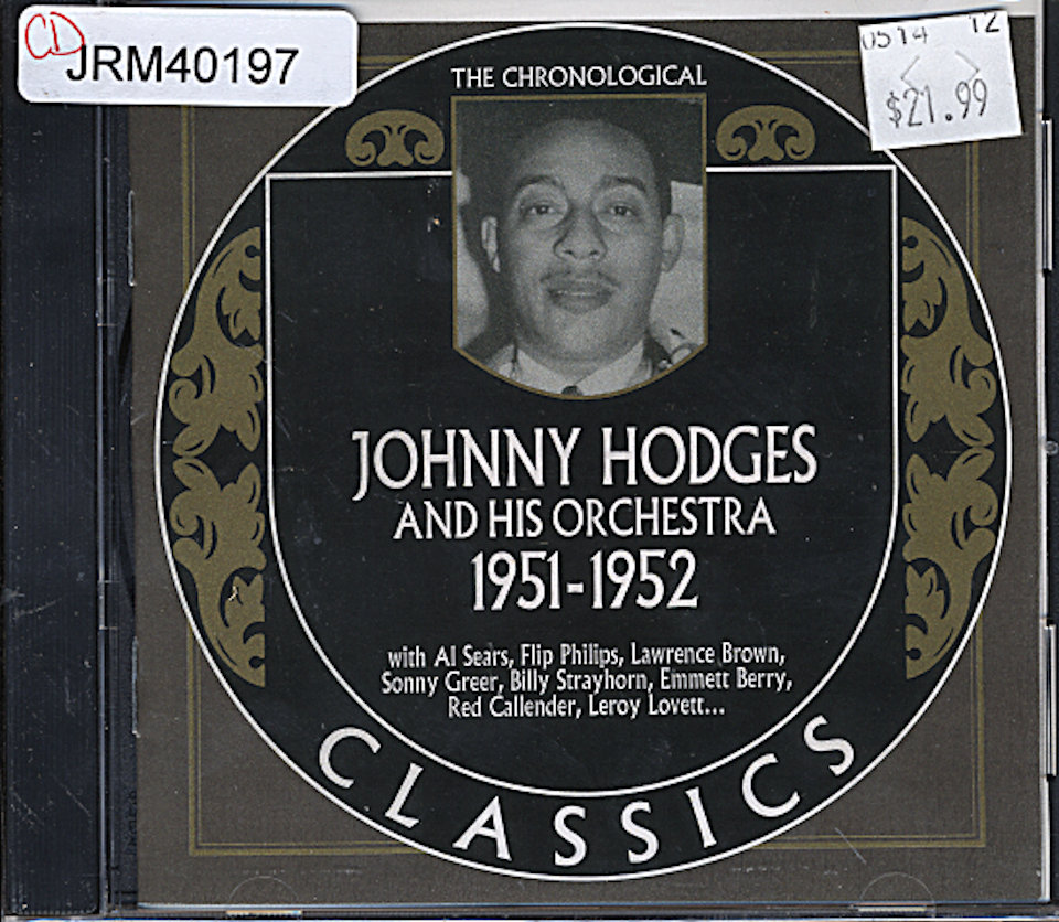Johnny Hodges And His Orchestra CD