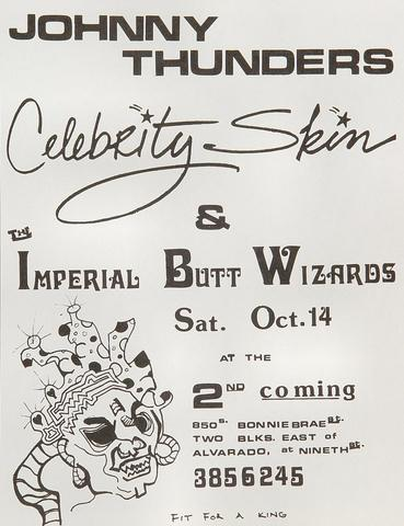 Johnny Thunders Handbill