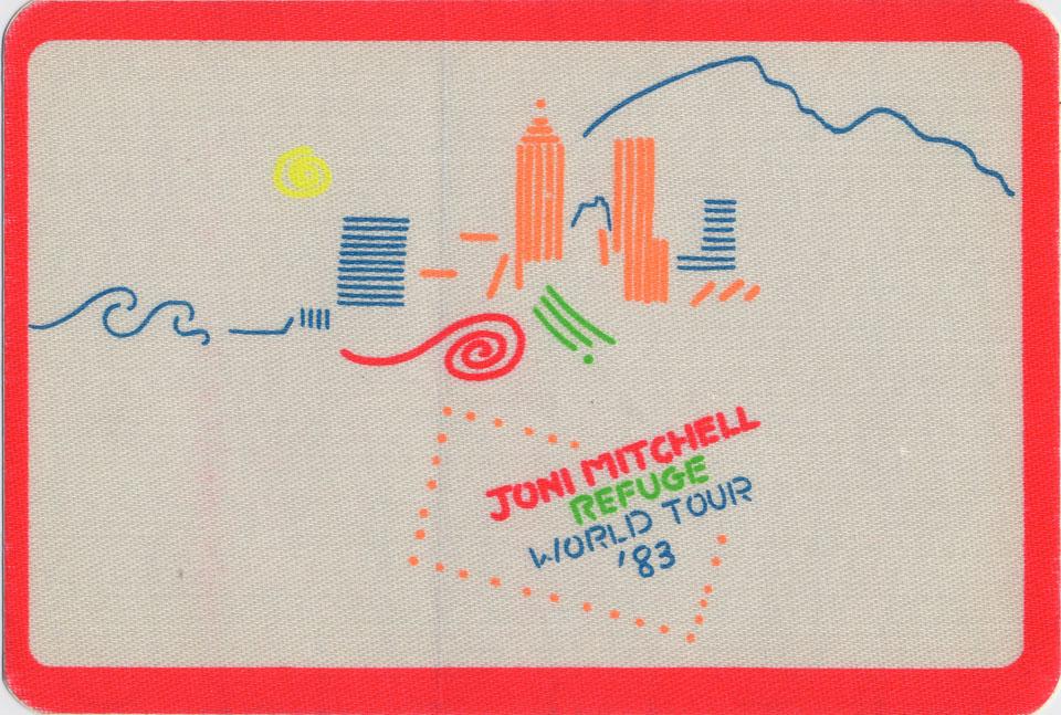 Joni Mitchell Backstage Pass