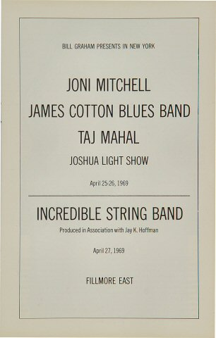 Joni Mitchell Program reverse side