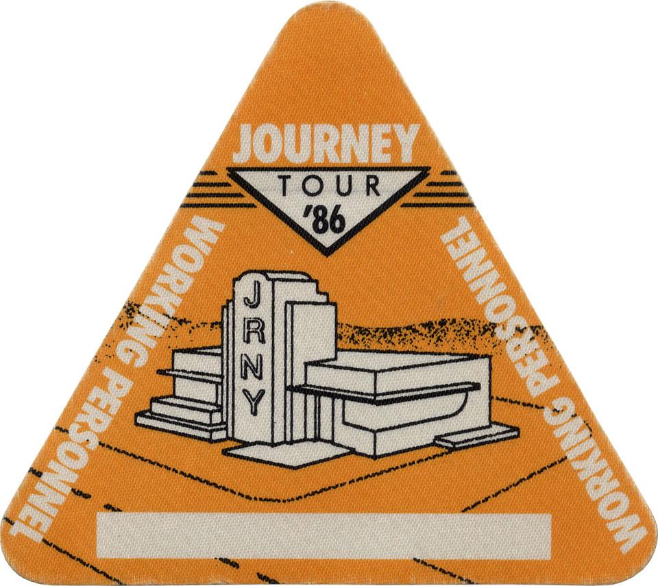 Journey Backstage Pass reverse side