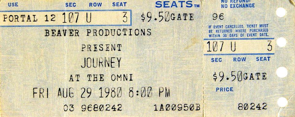 Journey Vintage Ticket