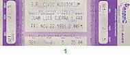 Juan Luis Guerra y 440 Vintage Ticket