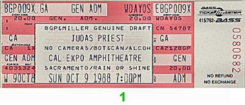 Judas Priest Vintage Ticket