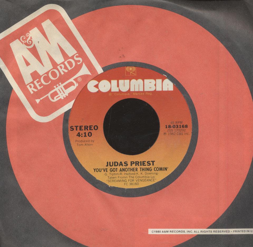 "Judas Priest Vinyl 7"" (Used)"