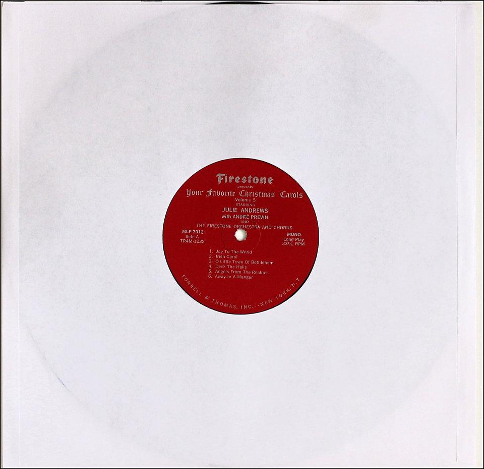 """Julie Andrews Vinyl 12"""" (Used)"""