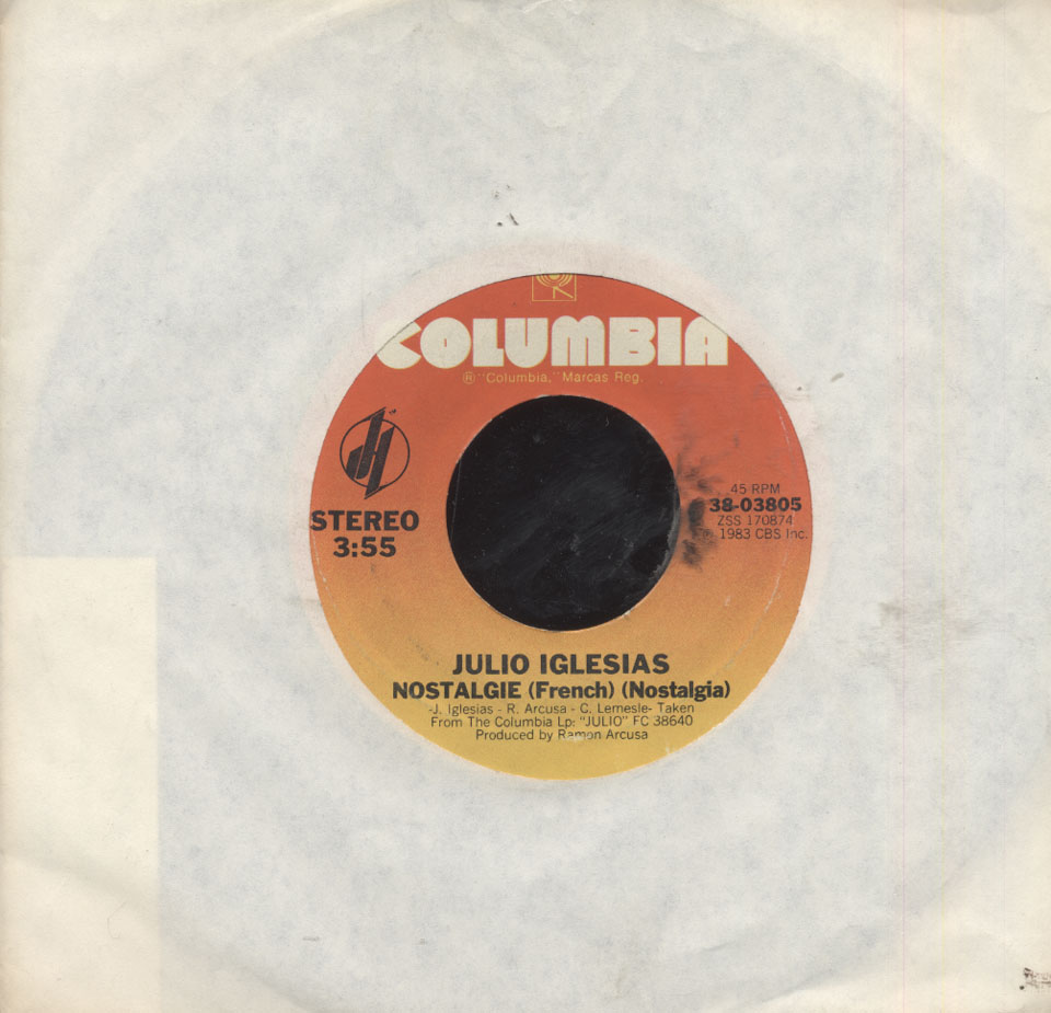 "Julio Iglesias Vinyl 7"" (Used)"