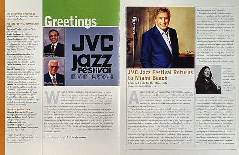 JVC Jazz Festival Miami Program reverse side