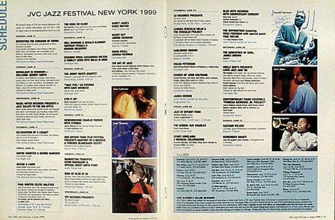 JVC Jazz Festival New York Program reverse side