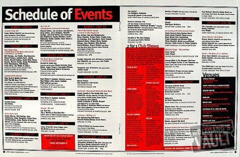 JVC Jazz Festival Program reverse side