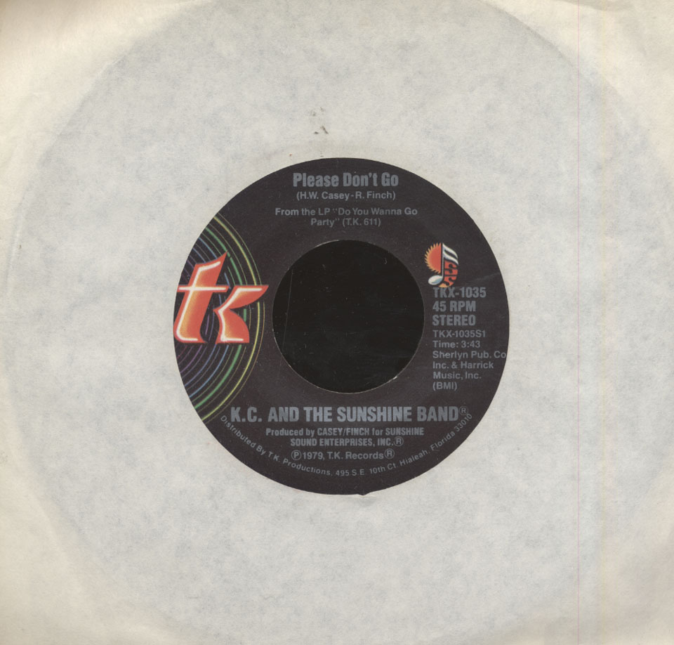 "K.C. and the Sunshine Band Vinyl 7"" (Used)"