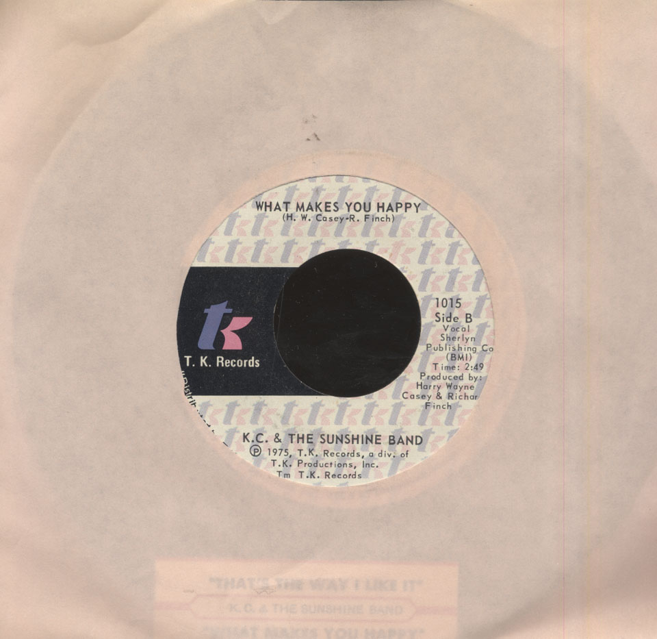 "K.C. and the Sunshine Band Vinyl 7"" (Used)"