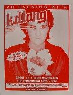 k.d. lang Handbill