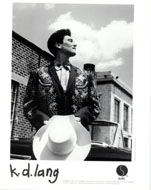 k.d. lang Promo Print