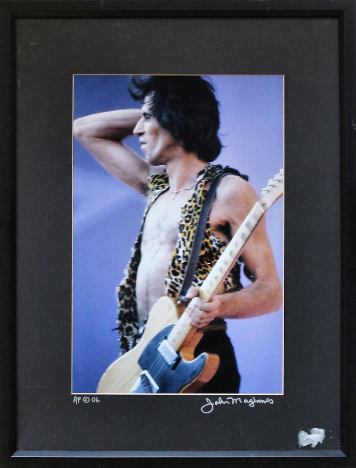 Keith Richards Framed Vintage Print