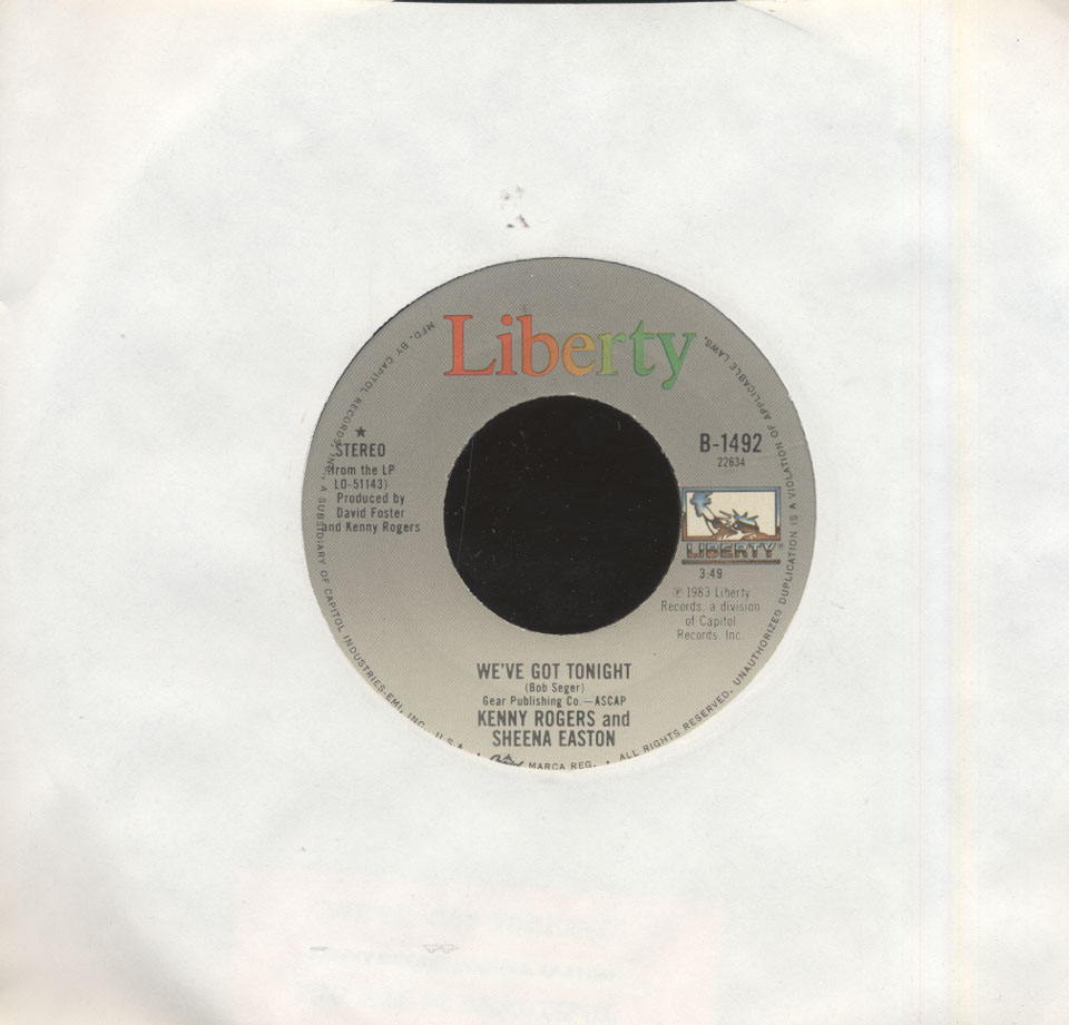 "Kenny Rogers / Sheena Easton Vinyl 7"" (Used)"