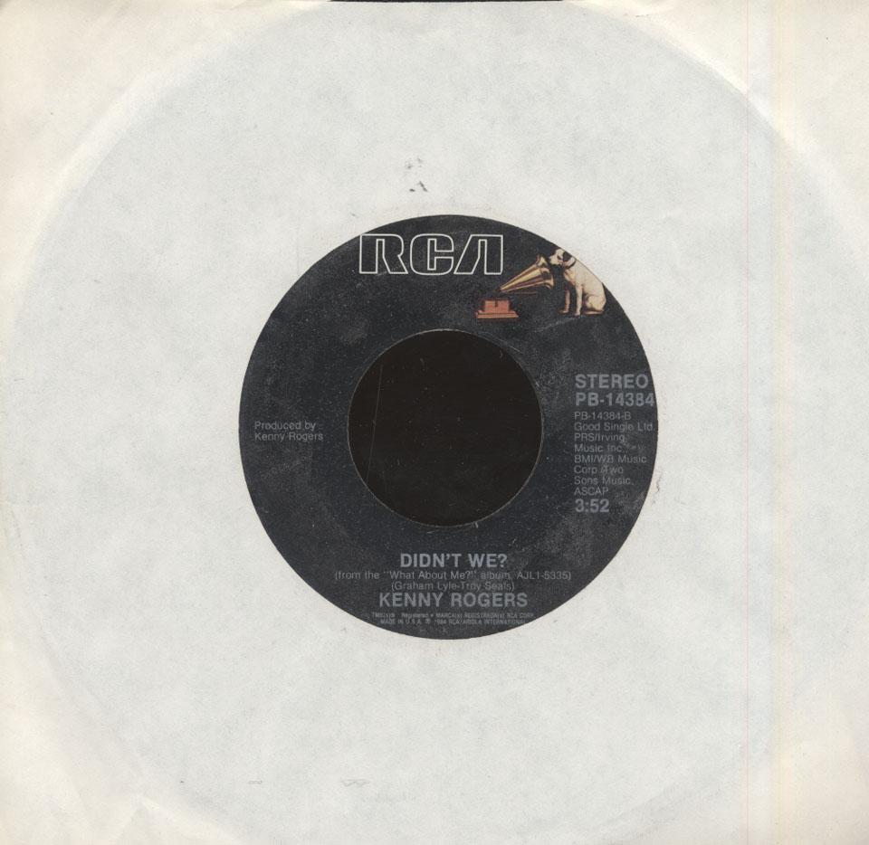 "Kenny Rogers With Nickie Ryder Vinyl 7"" (Used)"