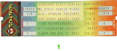 Kenny Rogers Vintage Ticket