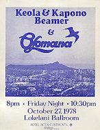 Keola and Kapono Beamer Handbill