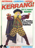 Kerrang Magazine May 31, 1984 Magazine