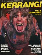 Kerrang Magazine September 9, 1982 Magazine
