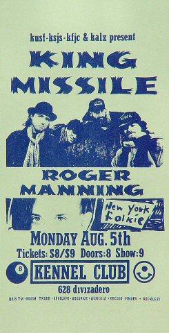 King Missile Handbill