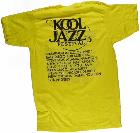 Kool Jazz Festival Men's Vintage T-Shirt reverse side