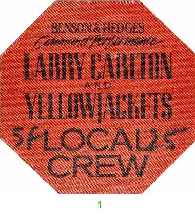 Larry Carlton Backstage Pass