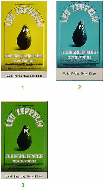 Led Zeppelin Vintage Ticket
