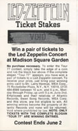 Led Zeppelin Vintage Ticket