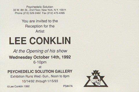 Lee Conklin Postcard reverse side