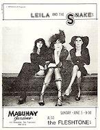 Leila and the Snakes Handbill