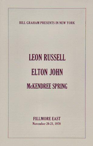Leon Russell Program reverse side