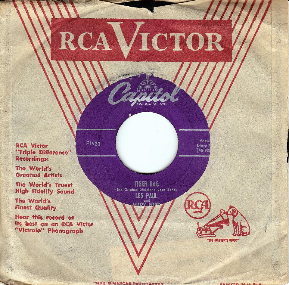 "Les Paul / Mary Ford Vinyl 7"" (Used)"