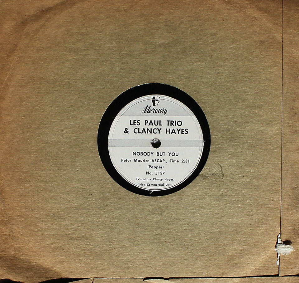 Les Paul Trio & Clancy Hayes 78